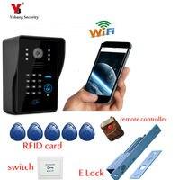 Yobang безопасности Бесплатная доставка видеомонитор Wi Fi Домофон Дверные звонки Системы Видеодомофоны телефон двери Wi Fi Беспроводной Домофон