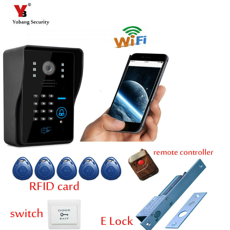 Yobang Security FreeShipping Video Doorphone Wifi Intercom Doorbell System Video Intercom Door Phone WiFi Wireless Door Intercom new 1685pcs lepin 05036 1685pcs star series tie building fighter educational blocks bricks toys compatible with 75095 wars