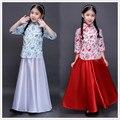 Традиционный древний китайский костюм для костюма hanfu ребенок девушки одежды Династии Тан костюмы Guzheng Производительности Одежда