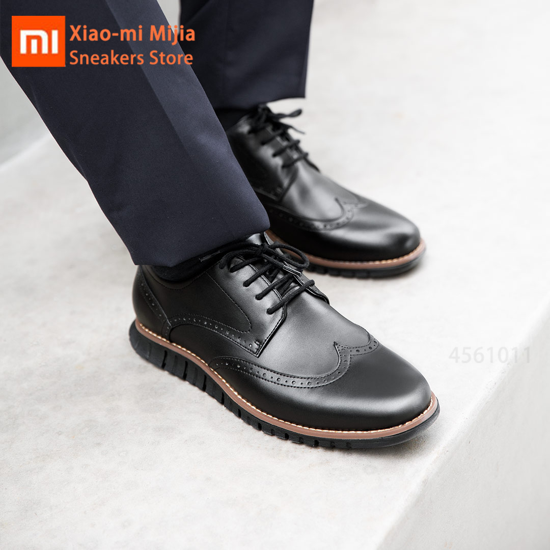 Xiaomi Mijia Original Lightweight Sports Shoes TPC High Elastic Rubber Suede Men's And Women's Business Leather Derby Shoes
