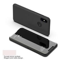 Clear View Mirror Flip Case For Xiaomi Mi 8 SE 8SE Cover Luxury Leather Smart Mi8 Phone for xiaomi