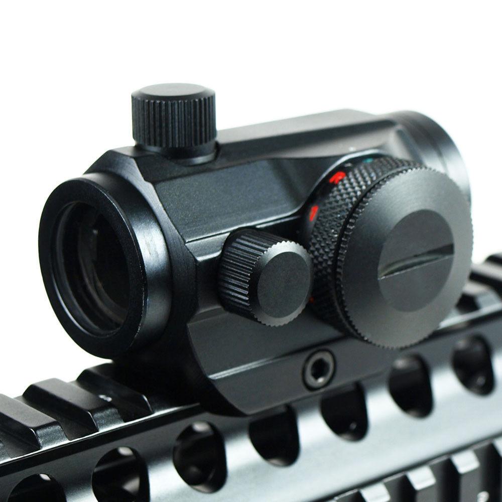 Rifle de caça Escopos Red Dot Airsoft Tactical Visando Scope Sight Holographic Óptico 20mm Rail Chasse Caza Luneta Parágrafo Rifle