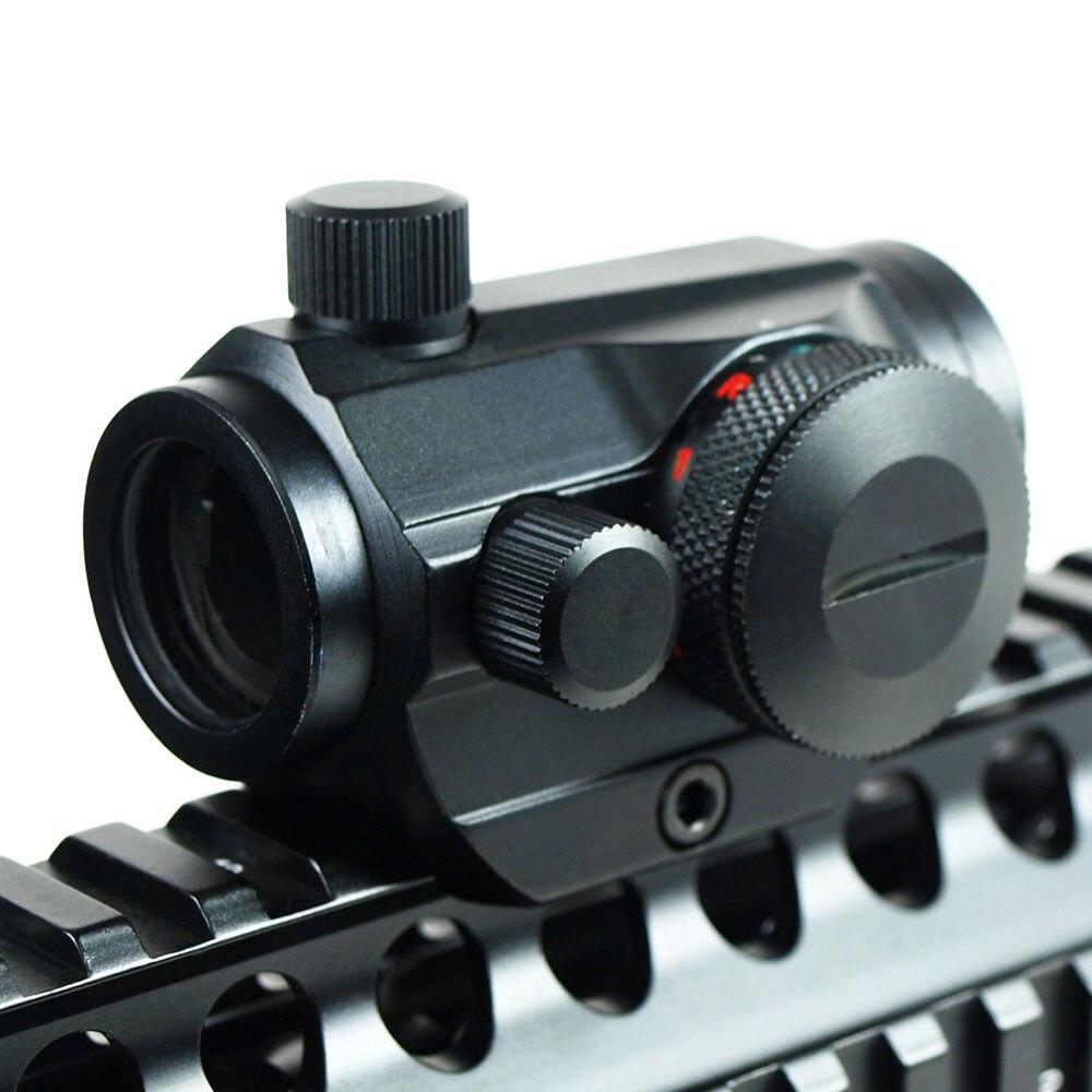 Cannocchiali Fucile da caccia Red Dot Airsoft Tactical Olografico Ottico Mirando Scope Sight 20mm Rail Chasse Caza Luneta Para Fucile