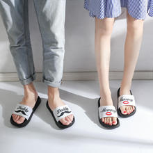Whoholl 2018 New Couple Bathroom Slippers Women Men Unisex Fashion Brand Outdoors Indoor Home Non-slip Floor Slides