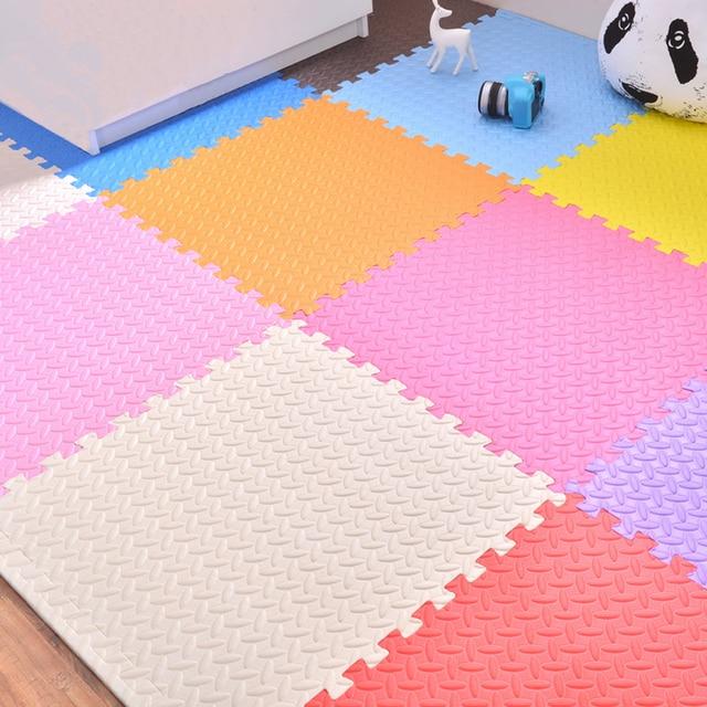 60*2.5cm baby jigsaw puzzle mats leaf pattern floor carpet crawling mats excersizing eva sport judo tatami interlocking tiles