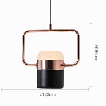 Modern minimalist bedside small chandelier personality decorative lamp for study bedroom spotlight pendant lights 110v/220v 1pc
