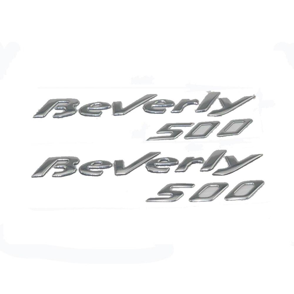 KODASKIN Motorcycle Raise 3D Emblem Chrome Sticker Decal FOR PIAGGIO Beverly 500