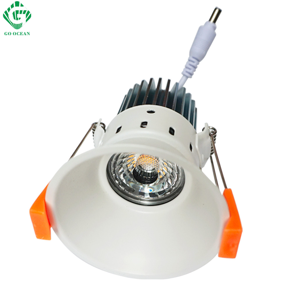 Downlights Recessed Projector 12W Dimmable Spot Ceiling Fixtures LED Lamp Recessed in Wall Down Light Lighting