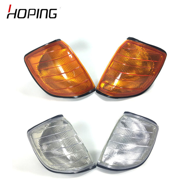 Hoping Car Styling White Yellow Corner Light Parking Lamps For <font><b>Mercedes</b></font> <font><b>W140</b></font> S-Class S320 S420 <font><b>S500</b></font> S600 1991-1998 image