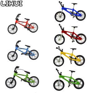 Bike-Toys Bmx Finger-Bmx Mountain-Bicycle-Model Gift Boys Children for Mini with Brake-Rope-Alloy