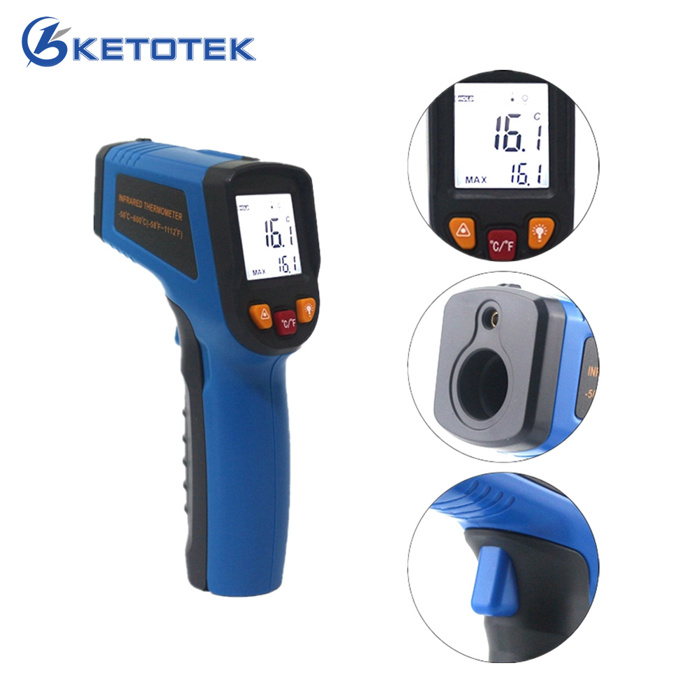 Non-contact IR Infrared Thermometer -50~600C -50~400C Portable Digital LCD Gun Laser Temperature Meter an550 laser lcd digital ir infrared thermometer temperature meter gun 50 500c 58 1022f non contact temperature meter gun