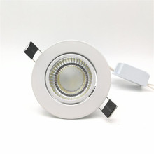 Wholesale!!! Free Shipping COB 10W Dimmable led downlight recessed light ,with the waterproof powersupply