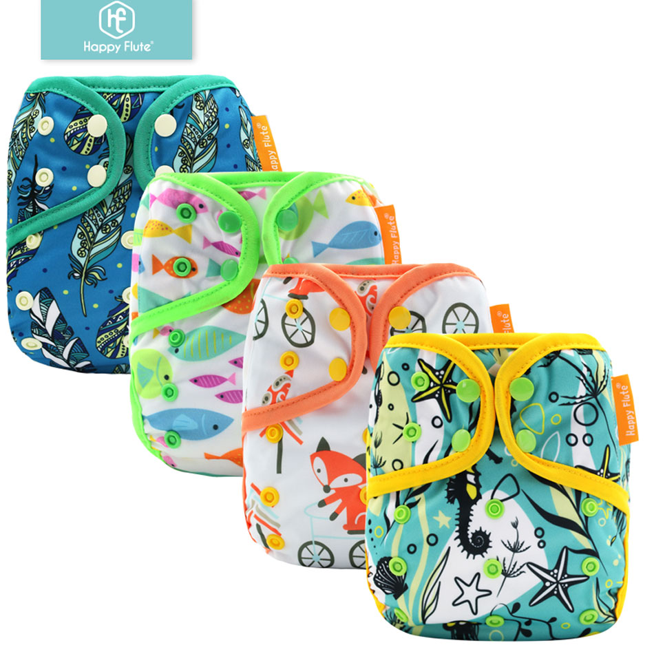 Happy Flute 13 Pcs Summer Waterproof Color-edged Diaper Cover OS Diaper Cover