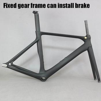 2019 SERAPH  bike carbon fixed gear have brake fixed gear  bike frame with BB86 carbon fixed bike frame aero bicycle frame