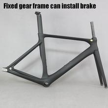 2019 שרף אופני פחמן ציוד קבוע יש בלם הילוך קבוע עם BB86 פחמן קבוע אופני מסגרת aero אופניים מסגרת