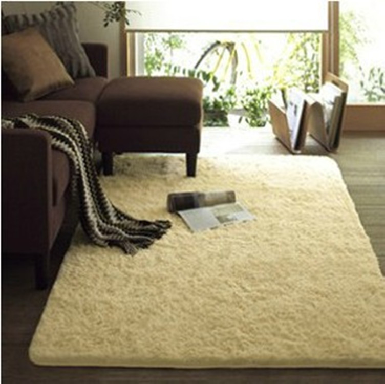 Luxury Rectangle Sheepskin Hairy Carpet Faux Mat Seat Pad Fur Plain Fluffy Soft Area Rug Tapetes in Carpet from Home Garden