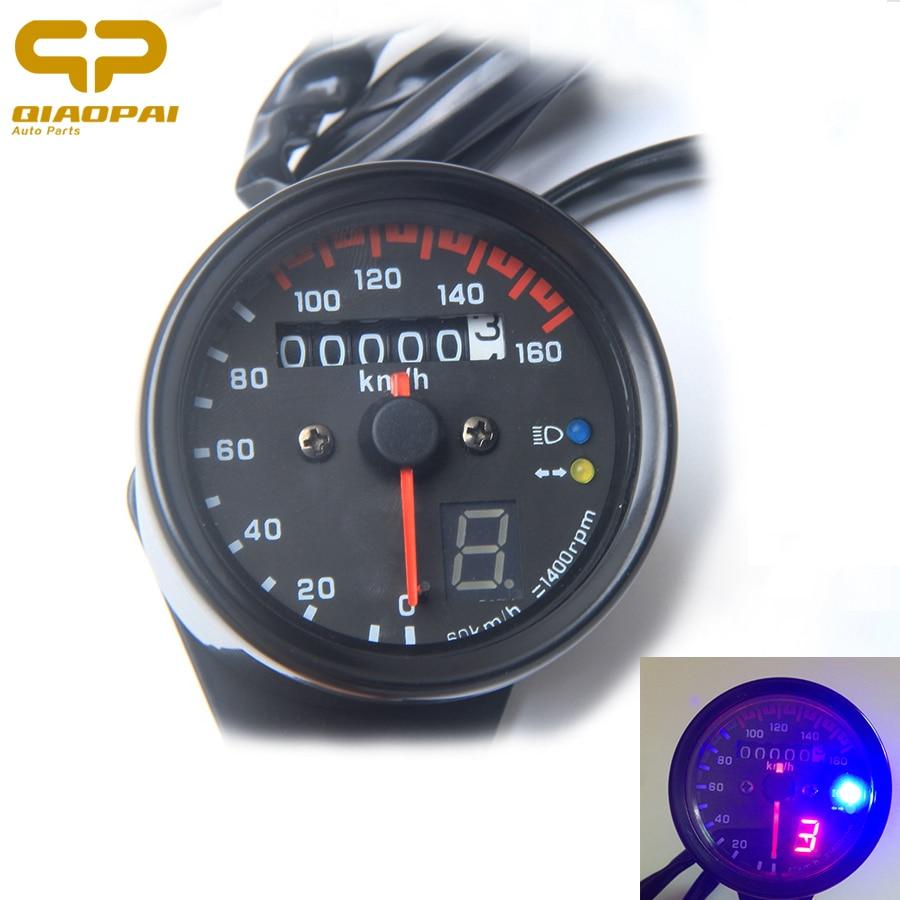 Motorcycle Speedometer Odometer Speed Meter Gauge Instrument Backlight LED Light Modified Motorbike For Harley Honda GN125 CG125