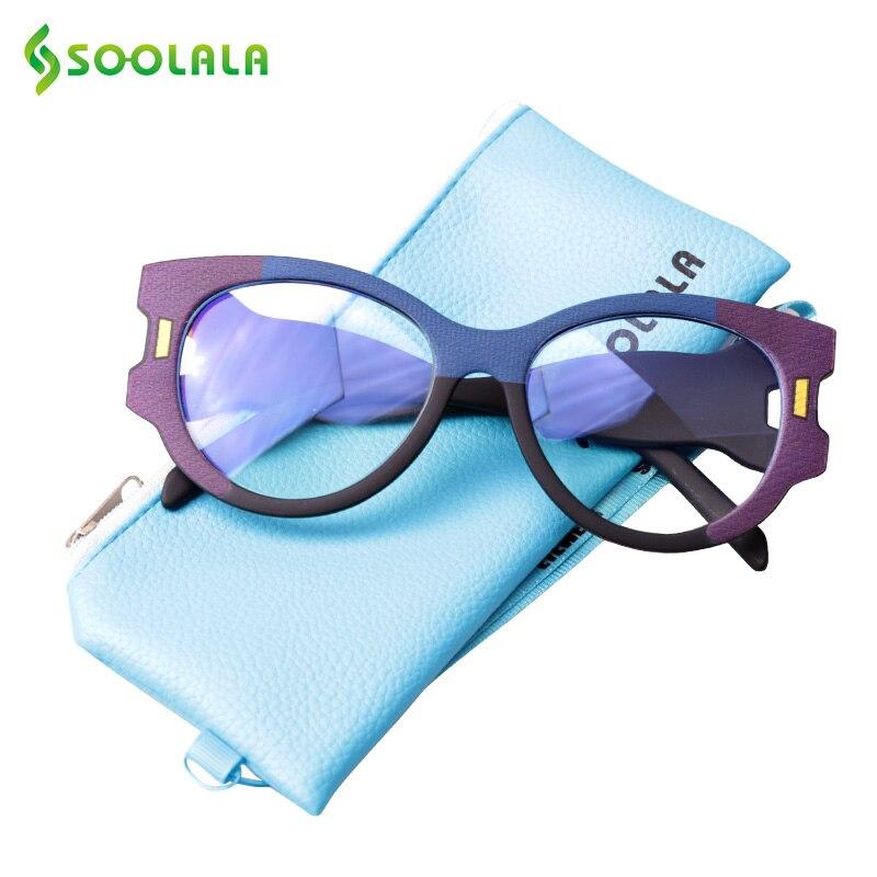 SOOLALA Cat Eye Blue Light Blocking Glasses Women Gafas Protecci N Ordenador Big Frame Wide Arms Anti Fatigue Blue Light Glasses