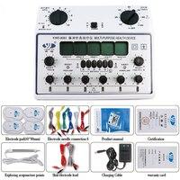 6 выход Электростимуляторы тела Relax мышц импульсный массажер иглоукалывания терапия состояния оборудования для похудения инструмент + 4 кол
