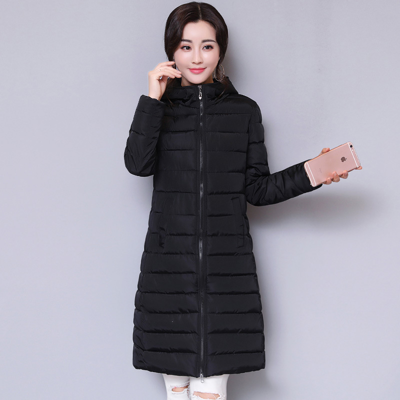 7e5a1e65cb04 2018 New Hot Sale Mid-long Slim Female Parkas Winter Woman Warm Coat Thick  Cotton Solid Jackets Woman Winter Portable Outwear