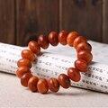 1.5cm Tibetan Buddhist  Raja Kayu Wood Sandalwood   Prayer Beads  Mala Buddha Bracelet Rosary Wooden Bangle High QualityJewelry