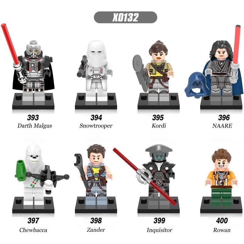 Super Heores Satr Wars Snowtrooper Chewbacca Inquisitor Rowan NAARE Kordi Darth Malgus Zander Bricks Children Gift Toys