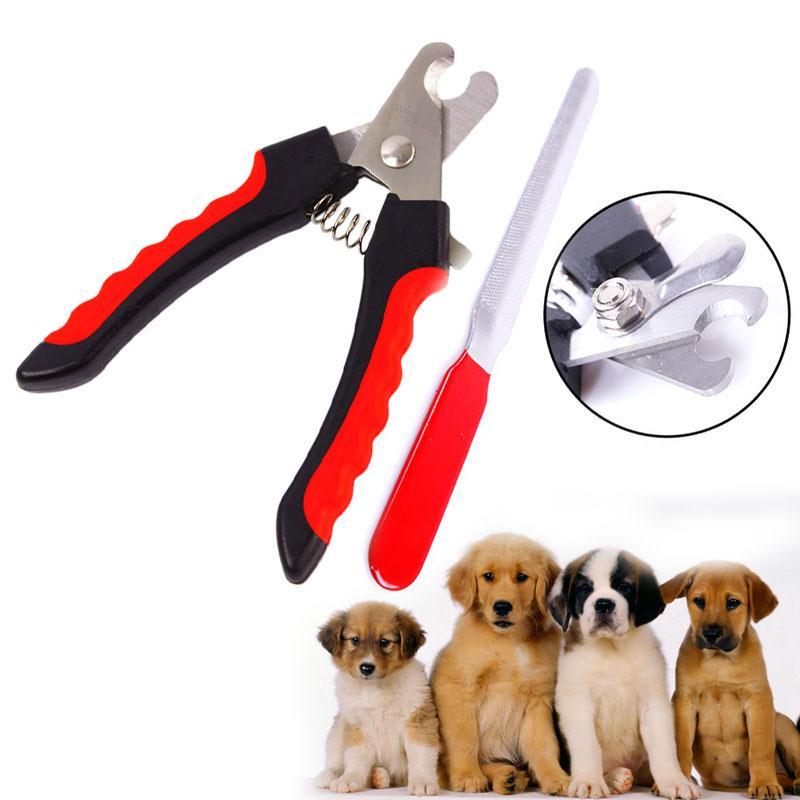 ᗔNueva 2 unids perro mascota de acero inoxidable cortauñas nail ...