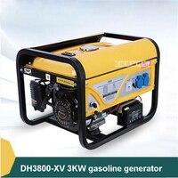 DH3800 XV 3KW бензиновый генератор мелкая бытовая Кемпинг Мощность Поколения Оборудования однофазный бензиновый двигатель 110 В/220 В/380 В