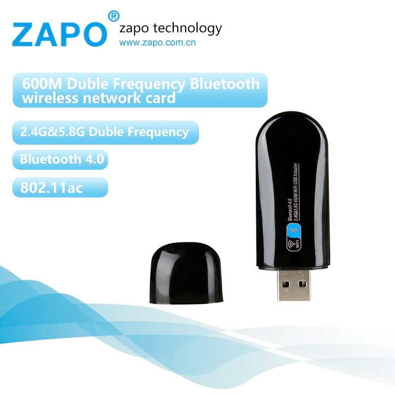 ZAPO Mini 5G WIFI USB Bluetooth 4.0 Lan Adapter 802.11ac Wireless 600 - Peralatan jaringan - Foto 1