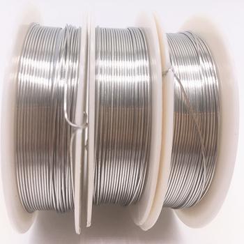 Hurtownie 0 2 0 3 0 4 0 5 0 6 0 7 0 8 1 0mm mosiądz miedziane druty żyłka do nawlekania koralików do tworzenia biżuterii srebrne kolory tanie i dobre opinie HWGTBBRR Metal Copper Wire For Beads Ocena biżuteria 1pcs lot silver