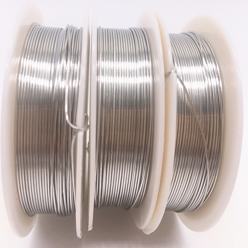 Wholesale 0.2/0.3/0.4/0.5/0.6/0.7/0.8/1.0 mm Brass Copper Wires Beading Wire For Jewelry Making silver colors(China)