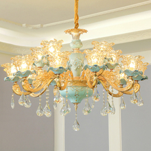 LED Crystal Chandelier Lighting Fixture Modern Ceramic Chandeliers Lamp French Living Room Dining Room Restaurant Lamp Lustre modern led lustre chandelier hanglamp remote control chandeliers hanging lighting dining room restaurant office light fixture