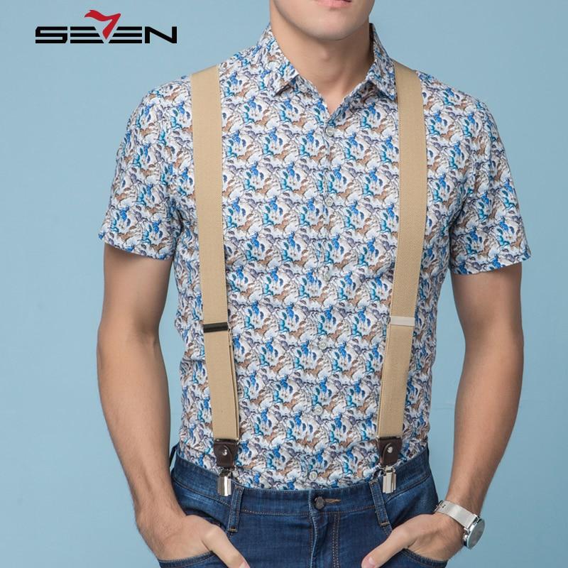 Popular Short Sleeve Floral Button Down Shirts Men-Buy Cheap Short ...
