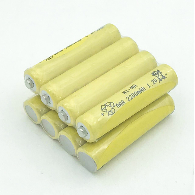 1 2 pcs Ni MH 1 2V AAA Rechargeable 2200mAh 3A Neutral Battery Rechargeable battery li ion ni mh battery in Replacement Batteries from Consumer Electronics