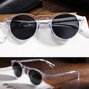 130ec3d5c46 EyeGlow Clear Frame polarized round sunglasses oculos de g