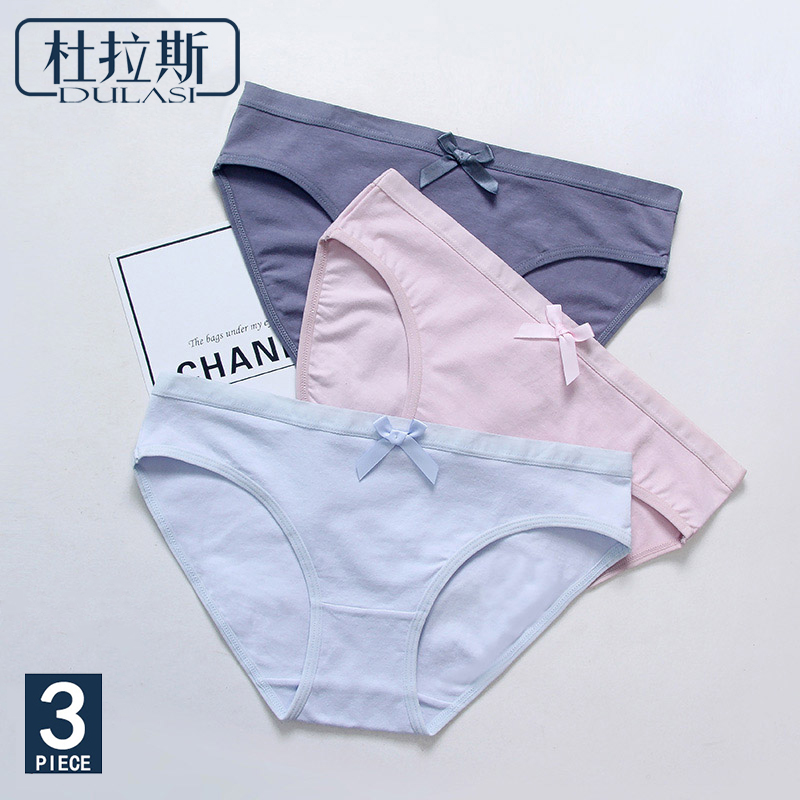 3pcs/lot Cotton Sexy   Panties   Women Underwear Seamless Briefs Brands for Girls Low Rise Waist Erotic Comfortable Cute   Panty
