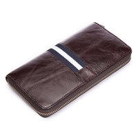 Limited 2017 Genuine Leather Business Style Zipper Around Desinger Wallet Purses Clutch Bag For Man
