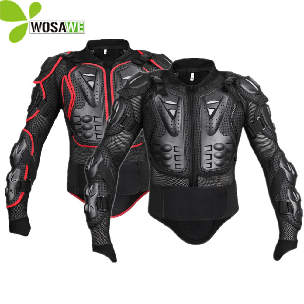 WOSAWE Sports Snowboard Jackets Men Mesh Sleeve Moto Cycling Windbreaker Back Support Protector Protective Gear Ski Protection