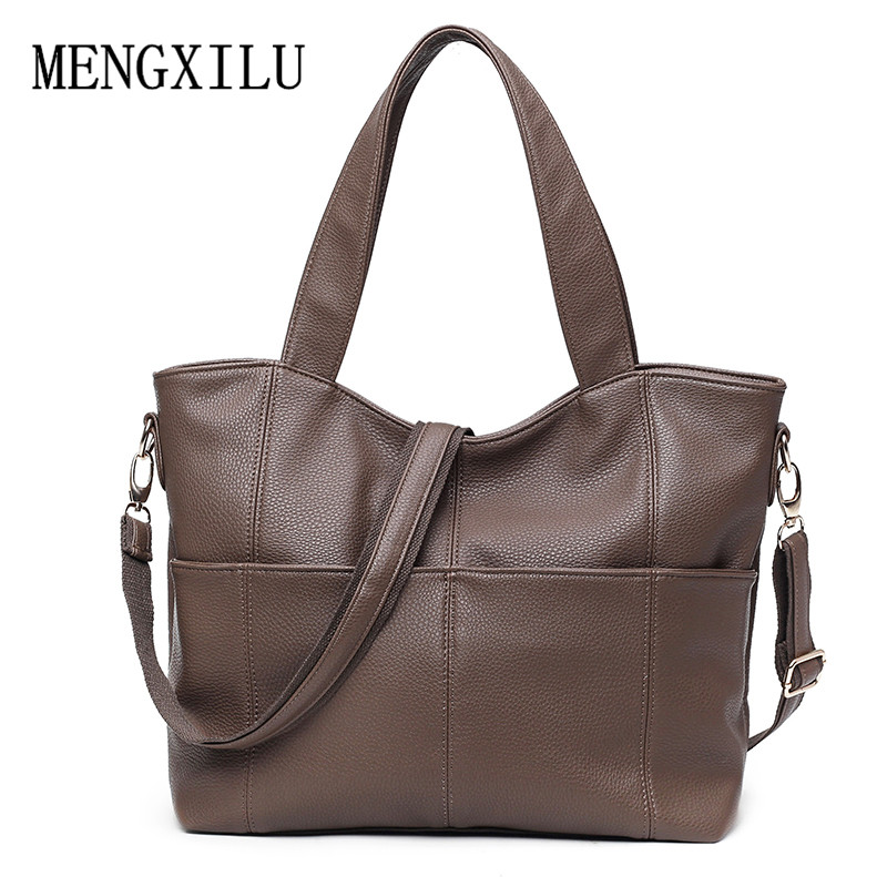 Luxury Handbags Women Bags Designer Soft PU Leather Ladies Shoulder Messenger Bag 2017 New Fashion Office Woman Bag Casual Totes cute fashion women bag ladies leather messenger shoulder bags women s handbags