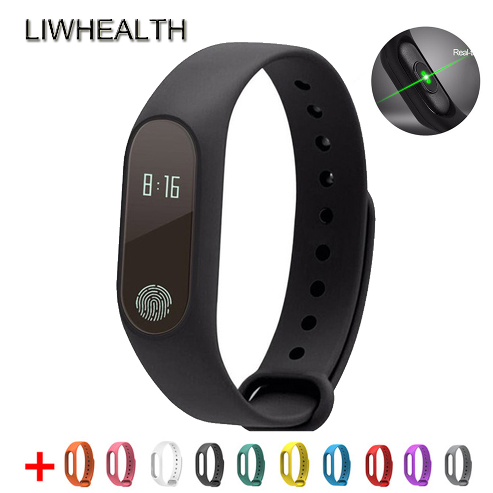L2 Bluetooth Intelligente Braccialetto di Vigilanza Monitor di Frequenza Cardiaca Fitness Tacker Smartwatch Per IOS/Xiaomi/Lenovo Gli Uomini/Donne montre Collegare