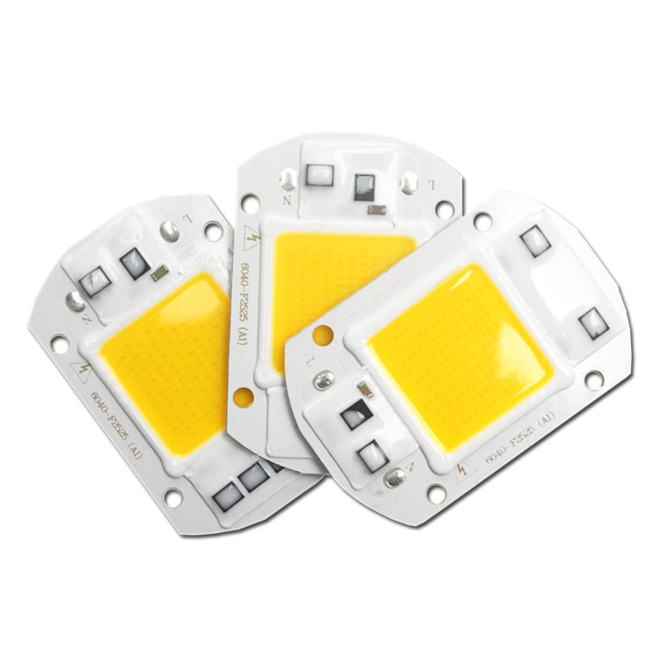 LED COB Chip 110V 220V 20W 30W 50W Flood Light COB Chip Led Lamp No Need Driver DIY For Led Spotlight Floodlight Warm Cold White
