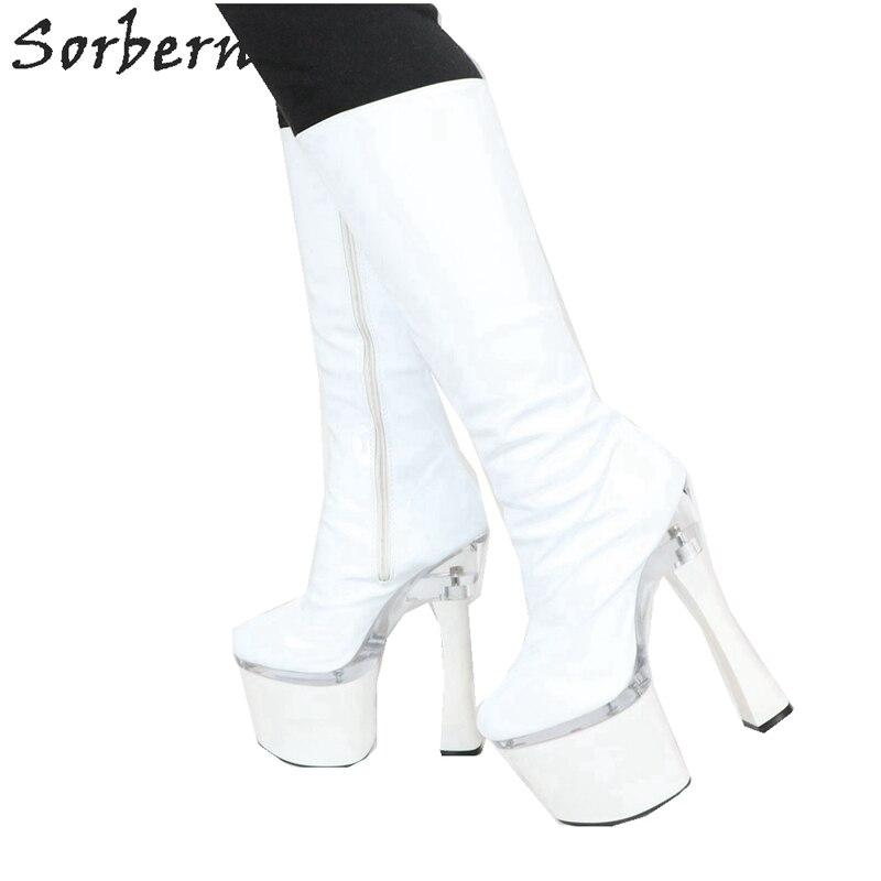 Sorbern 18Cm Chunky Heels WomenS Booties Punk Boots Fall Shoes Custom Long Leg Boots With A Heel For Women 8Cm Platform ShoesSorbern 18Cm Chunky Heels WomenS Booties Punk Boots Fall Shoes Custom Long Leg Boots With A Heel For Women 8Cm Platform Shoes