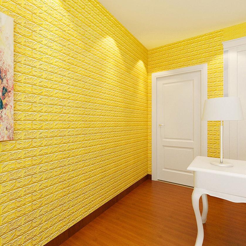 60x60cm New PE Foam 3D Wallpaper DIY Wall Stickers Wall ...