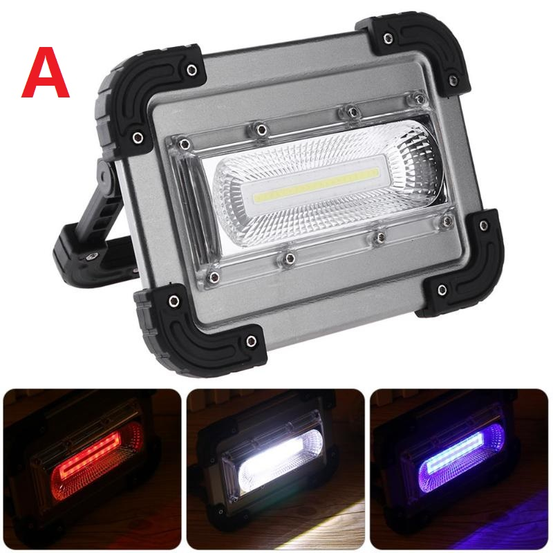 20W High Power 2400LM COB LED Work Light Waterproof Lawn Lamp Searchlight 18650 battery Charging Searchlight