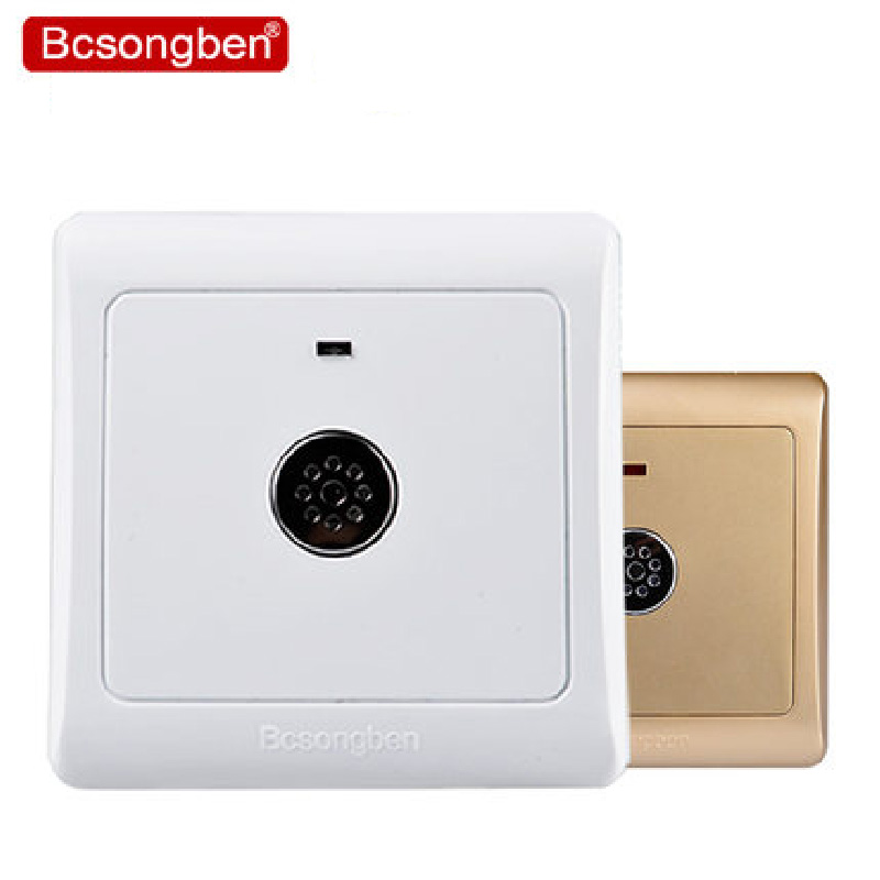 220v 86 wall smart home led sound and light control energy-saving delay switch voice control switch two wire system wall mount sound activated and light snesor switch with 30s time delay ac 110 250v