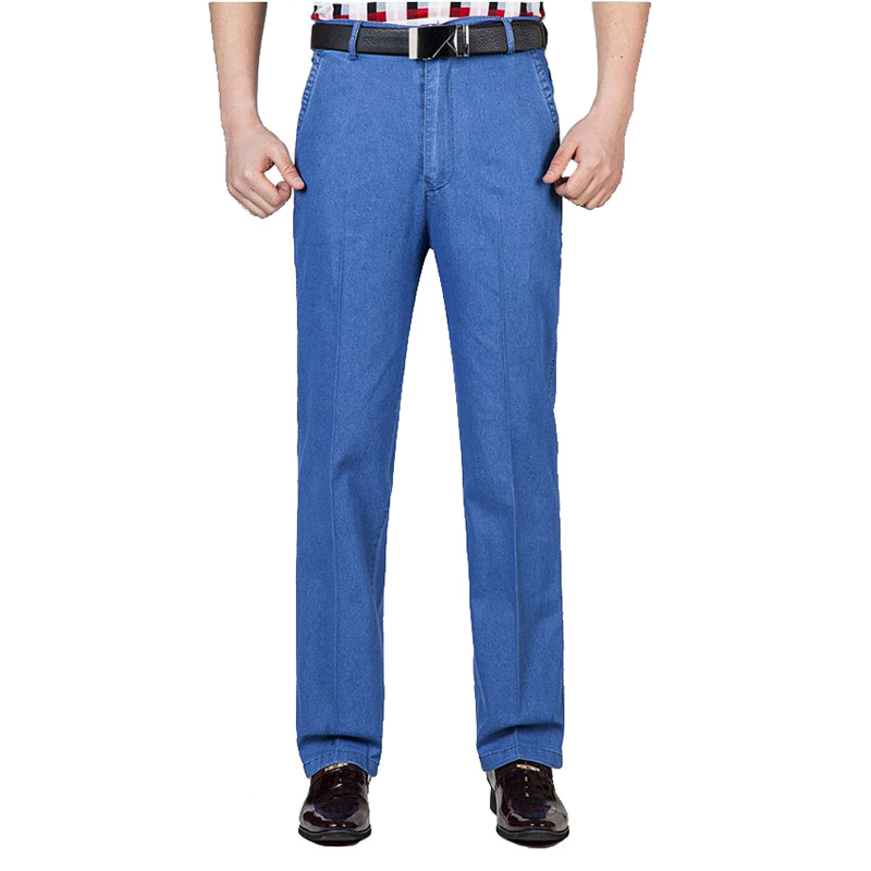MOGU 2019 Summer   Jeans   for Men Casual Denim Loose   Jeans   High-Waist Men's Long Pants Straight Trendy Classic   Jeans   Plus Size 42