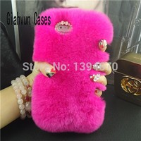 Bling Hot Winter Necessary Warm Soft Comfort Fur Full Rabbit S Hair Hard Phone Case For