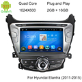 For Hyundai Elantra 1024*600 Android 5.1.1 Car DVD Player GPS Radio Navigation Fit For HYUNDAI ELANTRA 2011 2012 2013 2014 2015