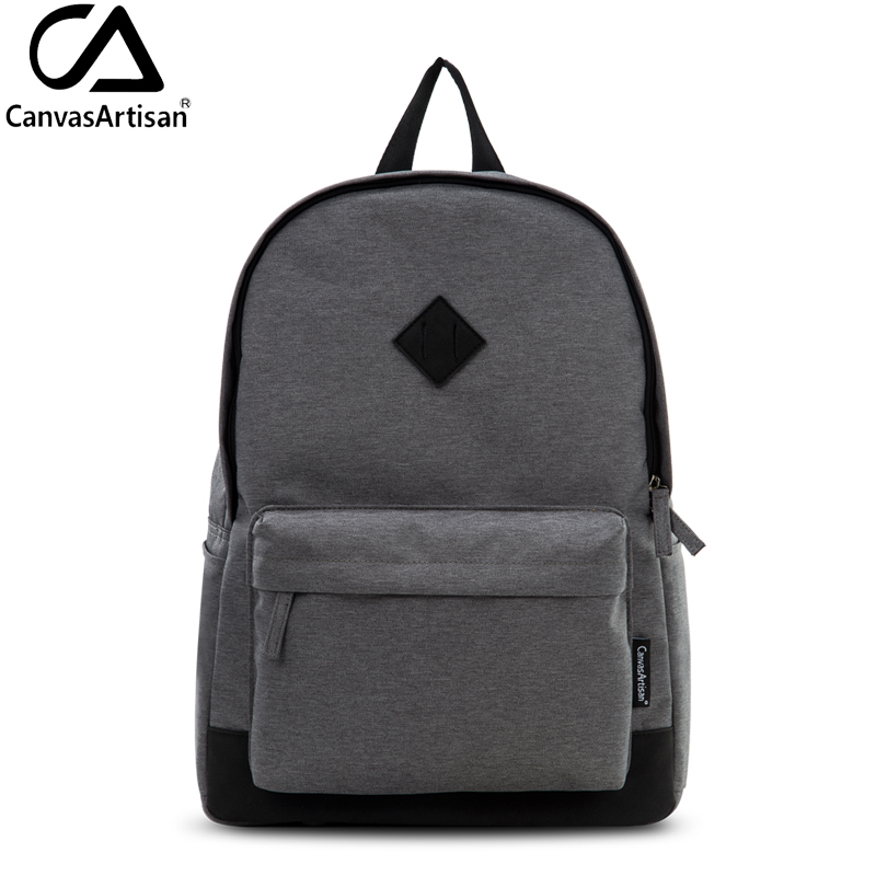 Canvasartisan Brand New Mens Canvas Backpack Youth College Student Bookbag For Teenager School Bags Male Travel Laptop Backpacks In From Luggage