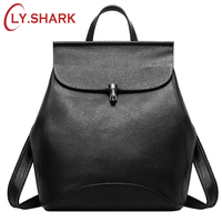BVLRIGA Small Multifunction Genuine Leather Backpack Women Back Pack Girl School Bag Famous Brand Designer Black